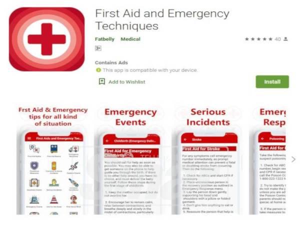 FIRST Aid and Emergency Techniques penting jika berlaku kecemasan di dalam rumah.