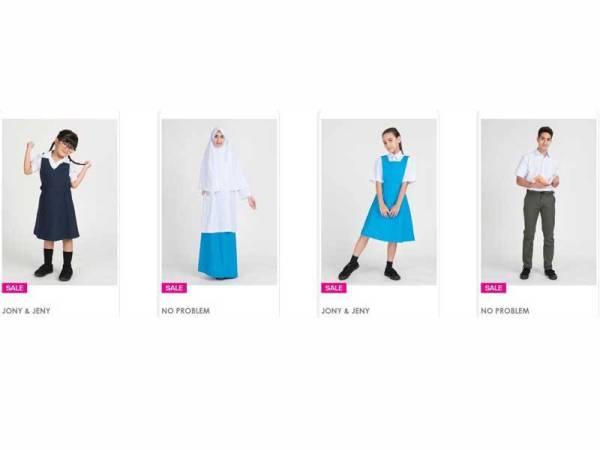 Uniform sekolah yang dijual pada harga berpatutan di eHari.