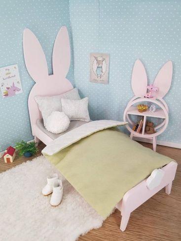 Tempat Tidur Anak Pink Model Rabbit