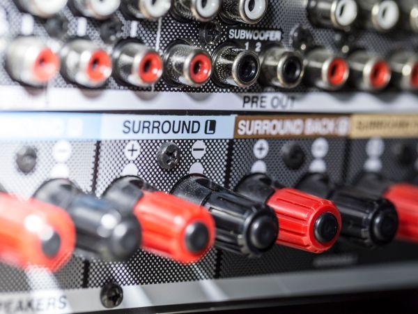 amplifier connectors – detail of sockets