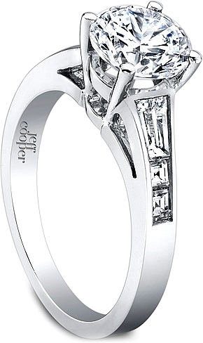 Jeff Cooper Engagement Ring With Tapered Baguettes