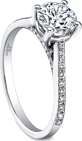 Jeff Cooper Pave Diamond Engagement Ring RP1504