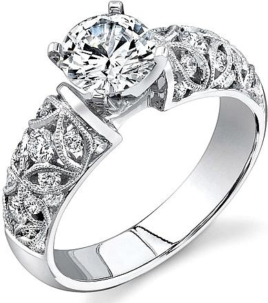 Simon G Filigree Engagement Ring SG LP1582