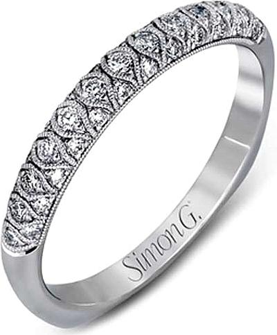 Simon G Pave Diamond Wedding Band MR2028B