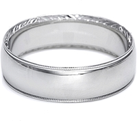 Tacori Mens Wedding Band With Hand Engraved Scroll Work 7