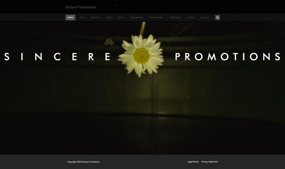 Website Sincere 1 - Web Design