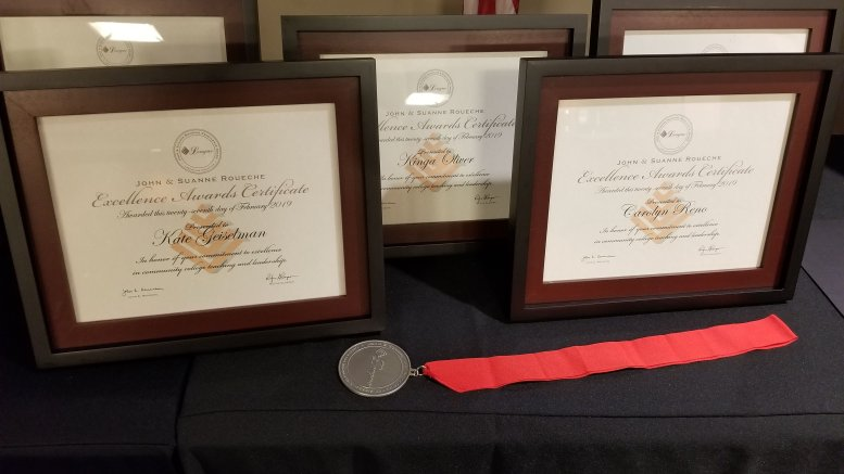 2019 Faculty Awards winners plaques