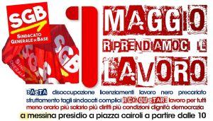 Read more about the article Messina. 1 maggio presidio a piazza Cairoli