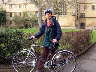 Me and my bike in the Wadham back quad