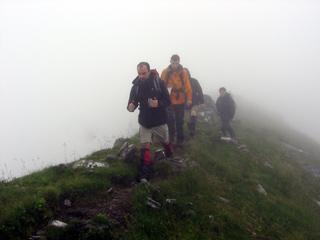 Bruno leading on the ridge