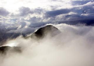 Scottish peak in cloud