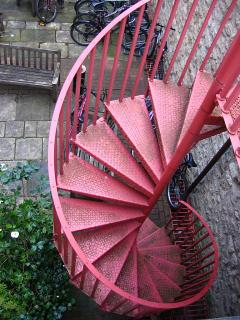 Spiral staircase in Oriel College