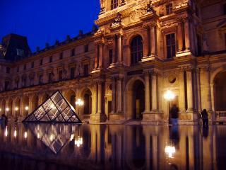 Smaller Louvre pyramid