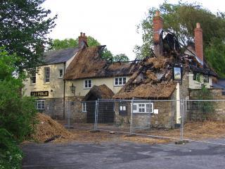 Fire at the Perch Pub, Oxford