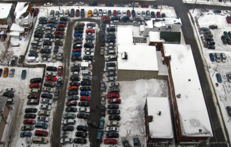 Cars parked in Gatineau