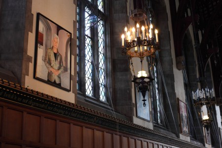 Portrait in Great Hall, University of Toronto