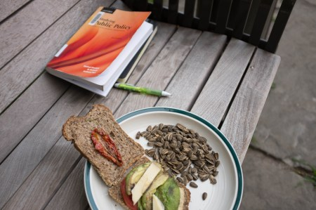 Sandwich and reading