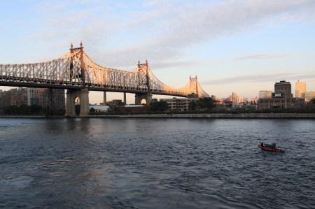 59th Street Bridge with coast guard boat