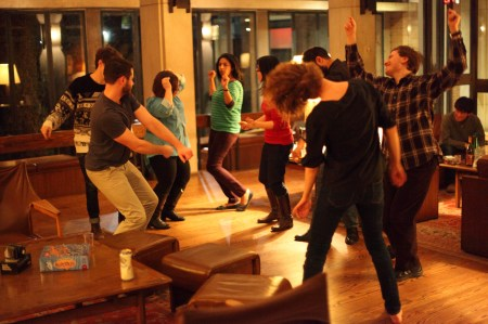 Mass dancing in the common room