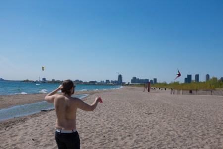 Neal flying kite