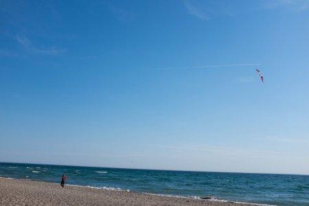 Two-string kite on beach