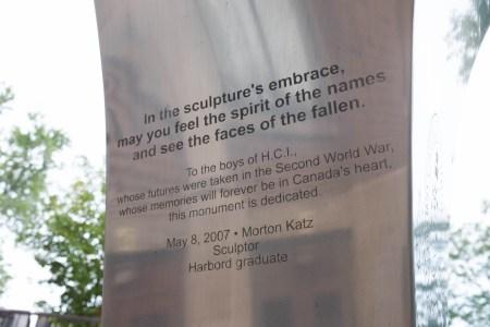 Harbord Collegiate Institute WWII memorial 3/3