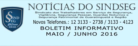 Boletim Informativo Maio / Junho 2016