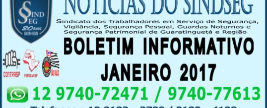 Boletim Informativo Janeiro 2017