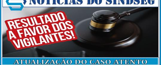 Atualização da Ação Coletiva do Sindseg Guaratinguetá x Atento.