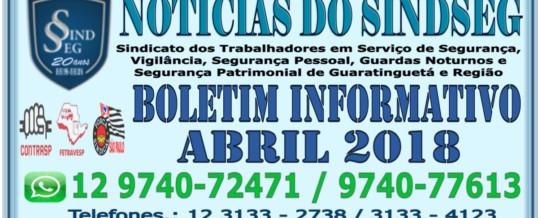Boletim Informativo Abril de 2018
