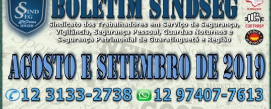 Boletim Informativo Agosto e Setembro 2019