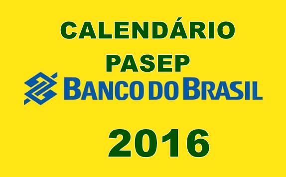 CALENDÁRIO DE PAGAMENTO PASEP 2016/2017