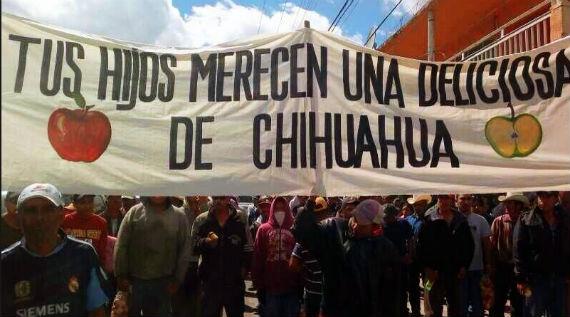 Productores marcharon el 26 de febrero para protestar por la importación de la fruta. Foto: nuevageneracion.blogspot