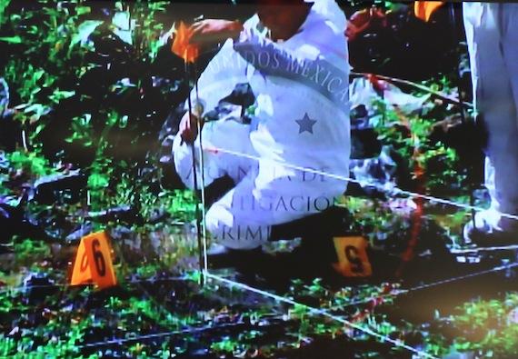 Lugar donde presuntamente hallaron restos de cuerpos calcinados. Foto: Cuartoscuro