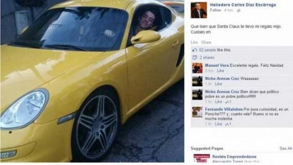 El político decidió bajar la publicación tras recibir diversas críticas. Foto: Facebook.