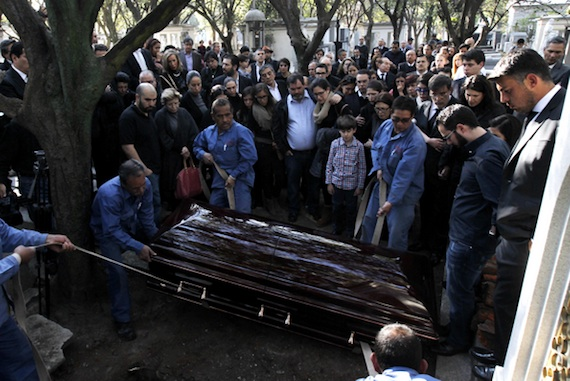 Funeral de Julio Scherer. Foto: Cuartoscuro.