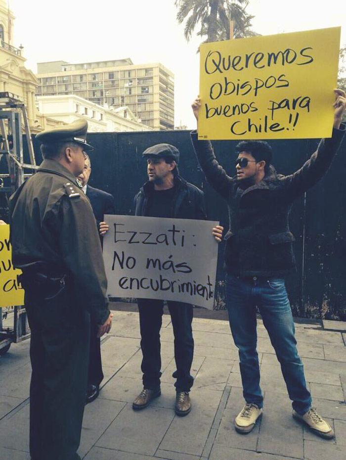 Protesta en Chile. Juan Carlos Cruz Chellew, especial para SinEmbargo