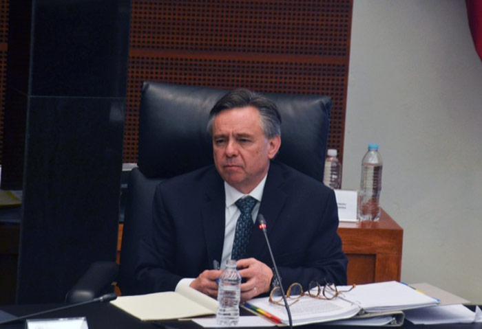 El Embajador, en el Senado de la República. Foto: Francisco Cañedo, SinEmbargo
