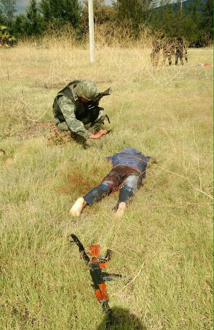 43 personas murieron en el enfrentamiento de Ecuandureo, Michoacán. Foto: Cuartoscuro.