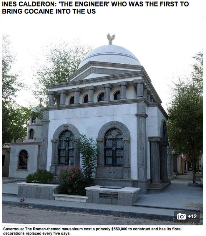 """Mausoleo de Inés Calderón """"El Ingeniero"""". Foto: Captura de pantalla"""