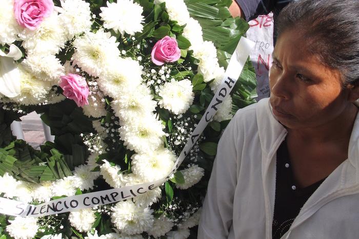 Elia Tamayo, madre del menor asesinado, José Luis Alberto Tehuatlie Tamayo. Foto: Luis Barrón, SinEmbargo.