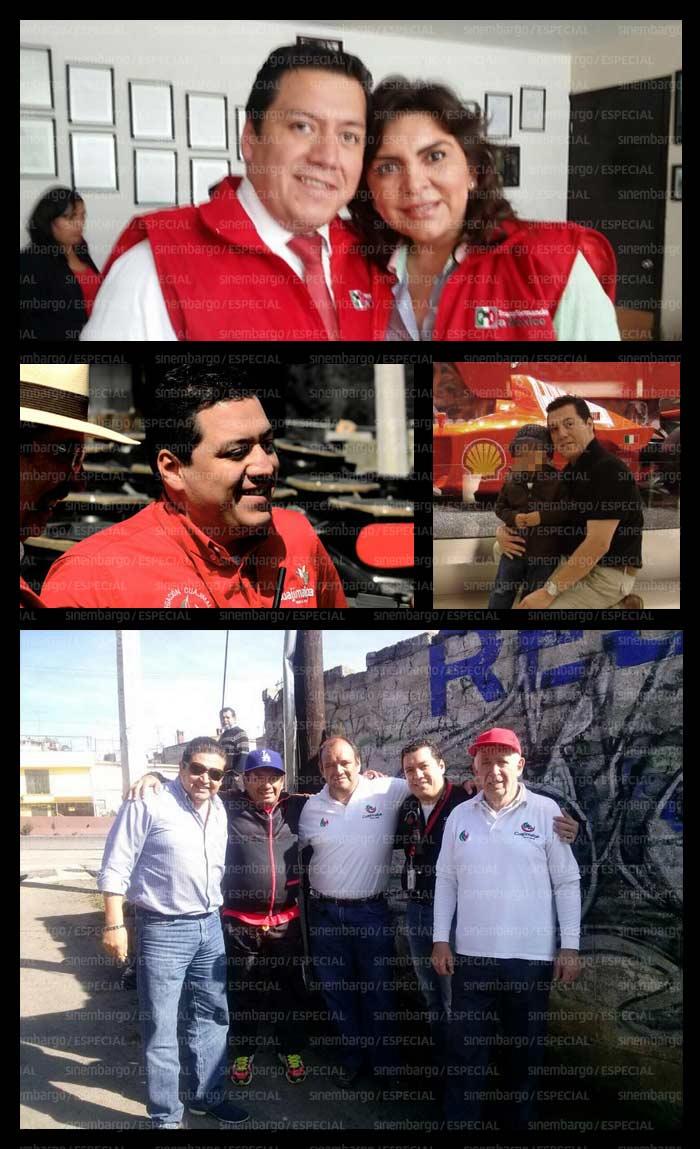 Zapata con distintos políticos.