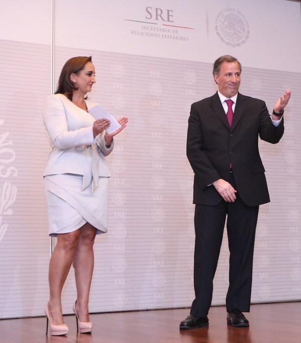Claudia Ruiz Massieu, de la familia Salinas, y José Antonio Meade, otro presidenciable. Foto: Cuartoscuro.