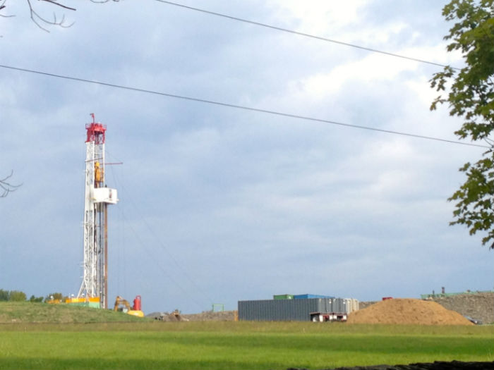 Aspecto de un pozo de extracción de gas mediante fractura hidráulica en Pensylvania. Foto: Mayela Sánchez,SinEmbargo