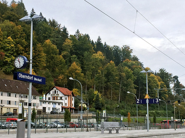 Estación del tren en Oberndorf. Foto: SinEmbargo Humberto Padgett