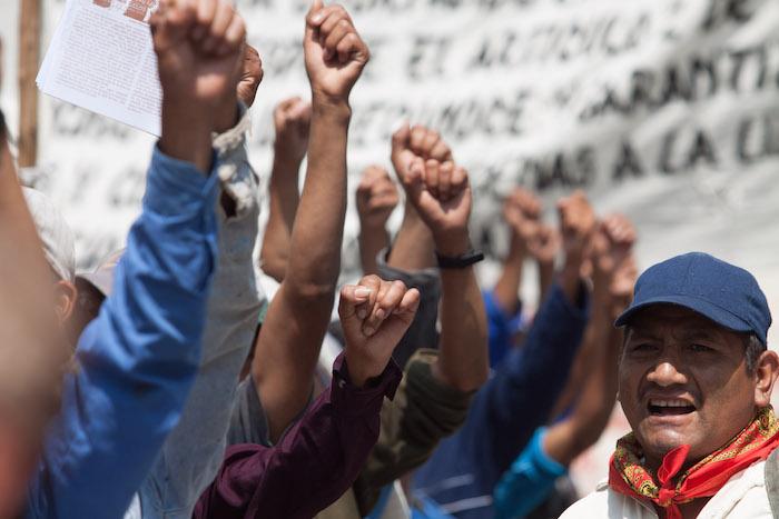 Ejidatarios de Tila protestaron hace tres años por que se les devuelvan sus tierras. Foto: Cuartoscuro