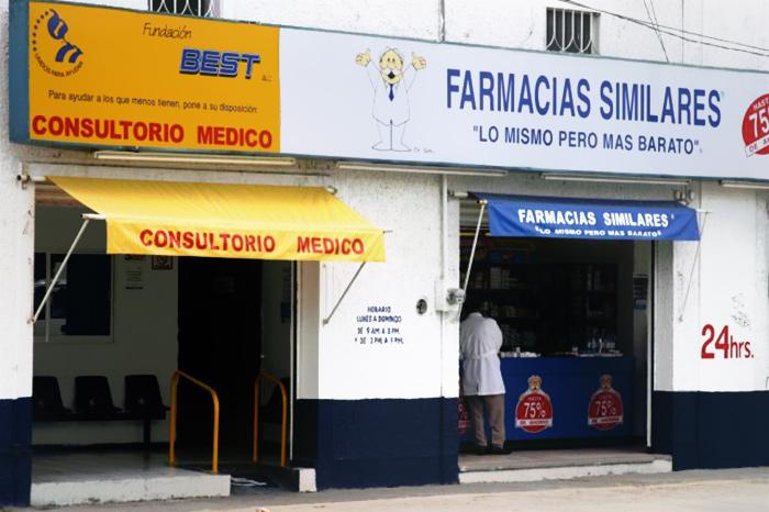 Los consultorios adyacentes a farmacias representan uno de los espacios en que el sector pobre gasta por las deficiencias en servicios de salud. Foto: Cuartoscuro