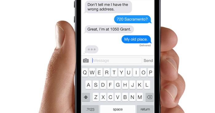 Punto final en los textos, señal de que no tienes sentimientos. Foto: Apple