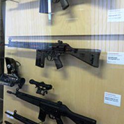 H&K es el principal fabricante de armamento para infantería del mundo. Foto tomada en el Museo de Oberndorf.