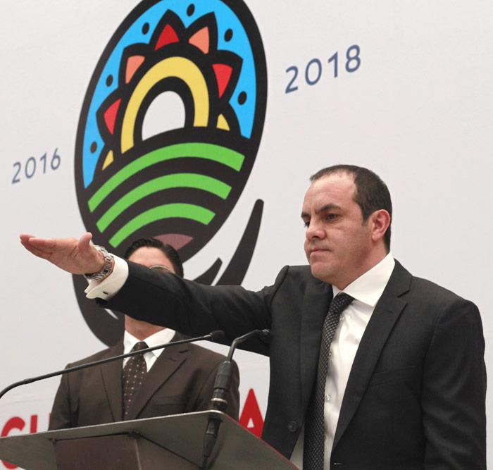 El polémico ex futbolista, ahora Alcalde de Cuernavaca. El Gobernador liga a sus aliados con el crimen organizado. Foto: Cuartoscuro